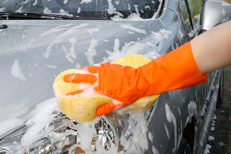 Washing car workout