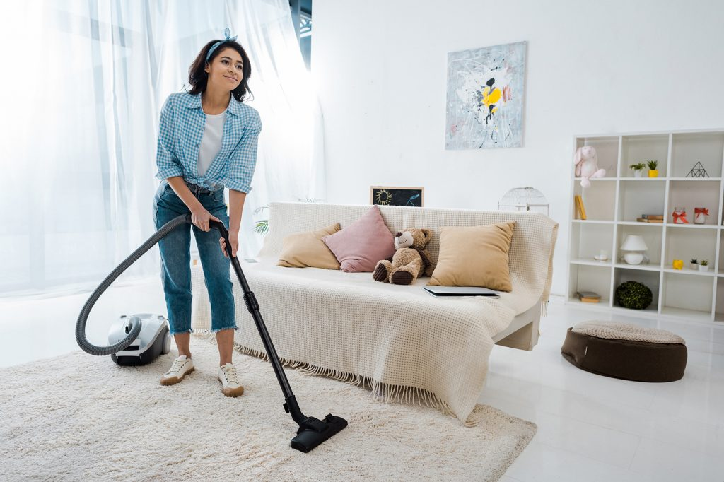 vacuuming exercise